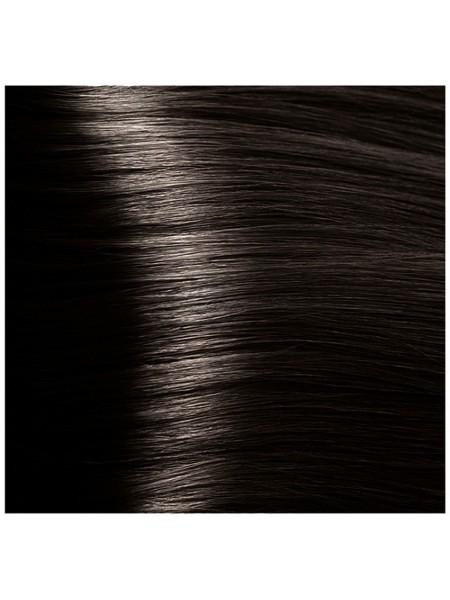 """HY 4.12 Коричневый табачный Крем-краска для волос с Гиалуроновой кислотой серии """"Hyaluronic acid"""", 100мл"""