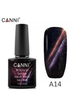 """Гель-лак Canni """"кошачий глаз 3D"""" A14"""