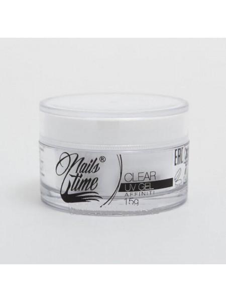 Гель прозрачный NailsTime affiniti, 15гр, UV