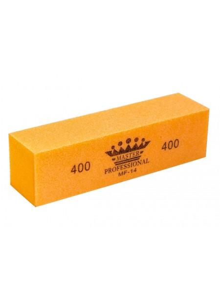 Бафик оранжевый 4-х сторонний, абр.400