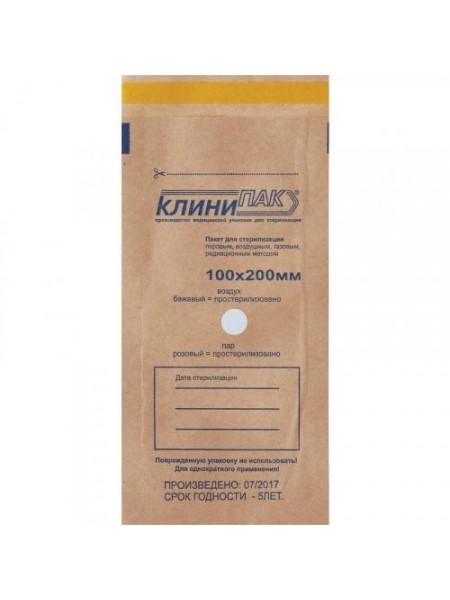 Пакет для стерилизации из крафт-бумаги 100х250мм 1шт.